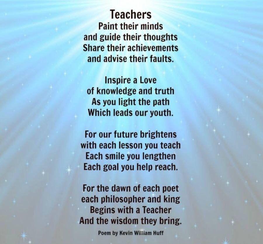 Pin By Tatara On Words Teacher Poems Teacher Appreciation Poems Teacher Quotes Inspirational