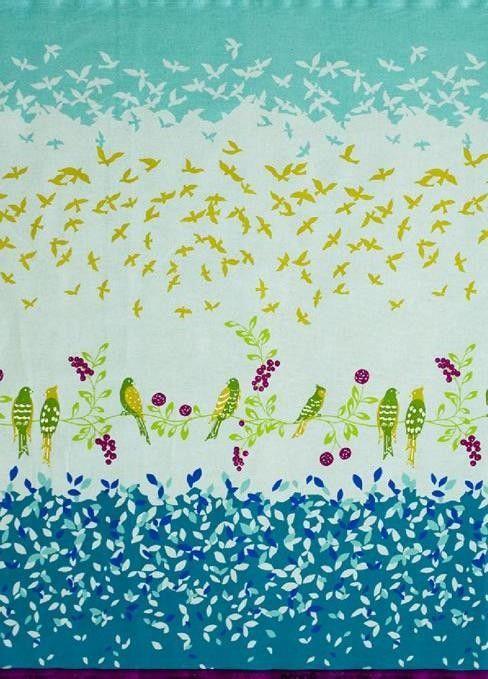 Blue Bird Floral by Etsuko Furuya   ECHINO by Etsuko Furuya Bird Song EF500C Blue 2 by JamsaBon