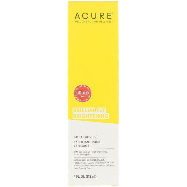 """Acure, תכשיר ניקוי פנים לעור זוהר, 118 מ""""ל (4 אונקיות נוזל"""