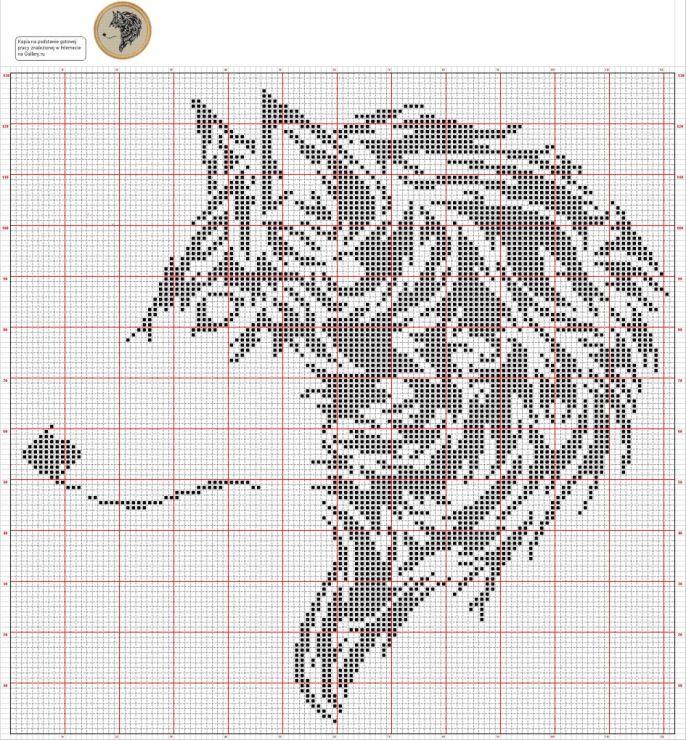 Wolf Silhouette cross-stitch ~TW 7/17 | Узоры | Pinterest ...
