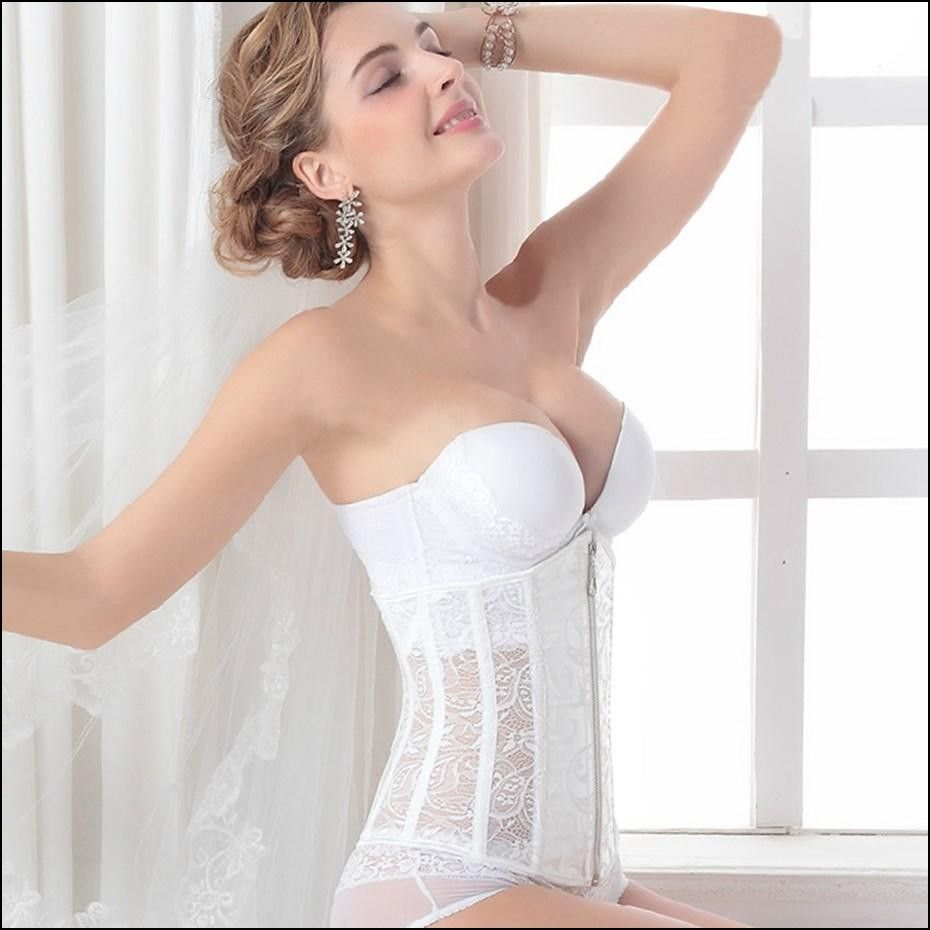 Corset under wedding dress plus size