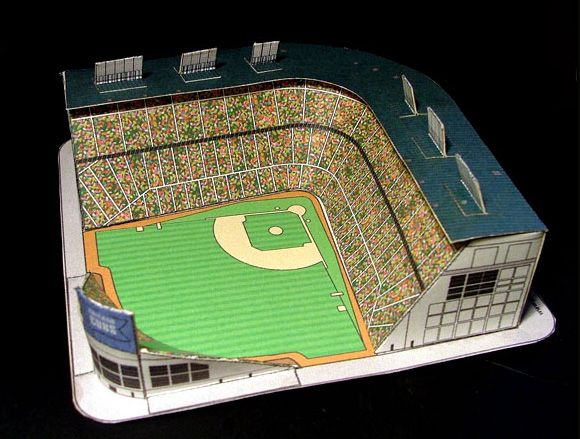 c94f084cab8 Wrigley Field Paper Model - FREE Paper Toys and Models at PaperToys ...