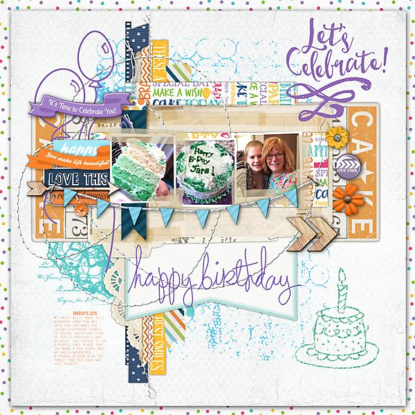 A page from my birthday a couple of weeks ago using lots ...