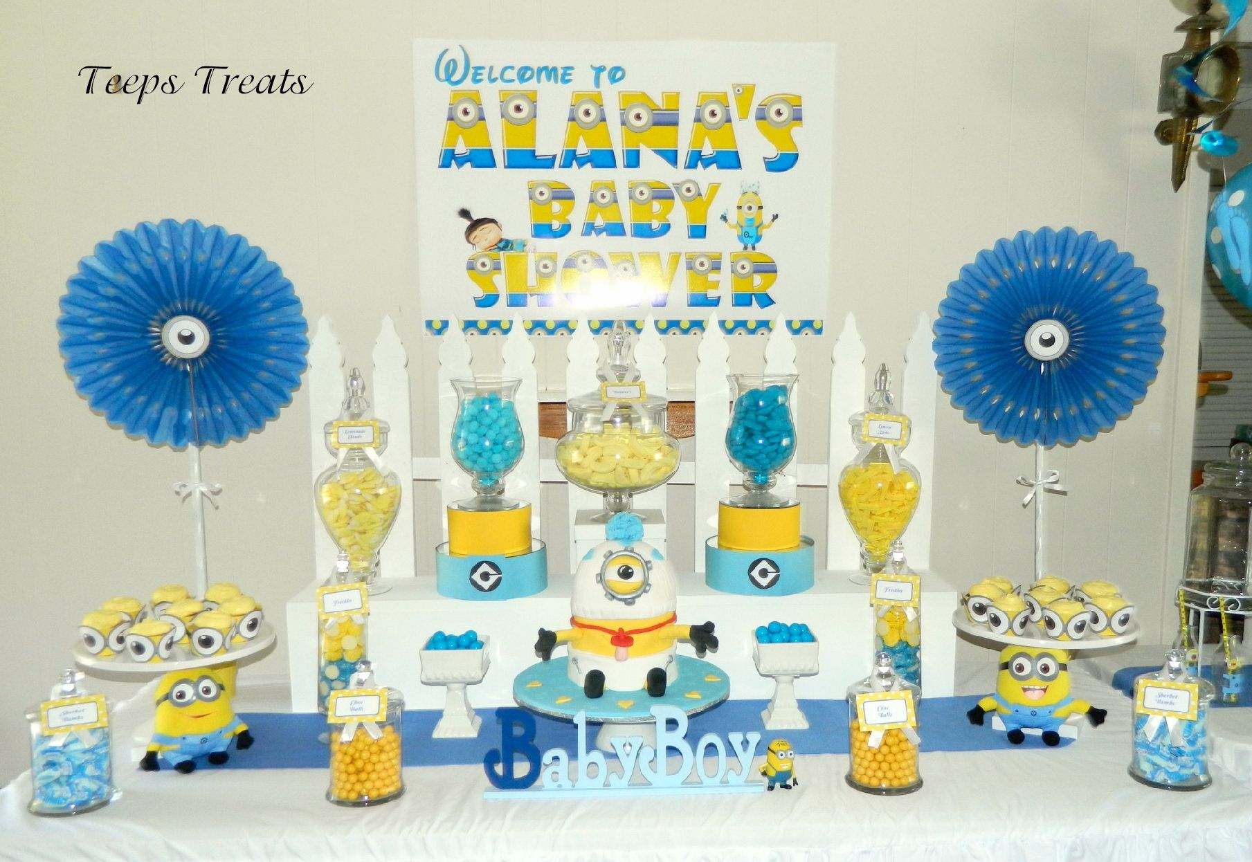 Lovely Minion Themed Candy Buffet. Baby Shower