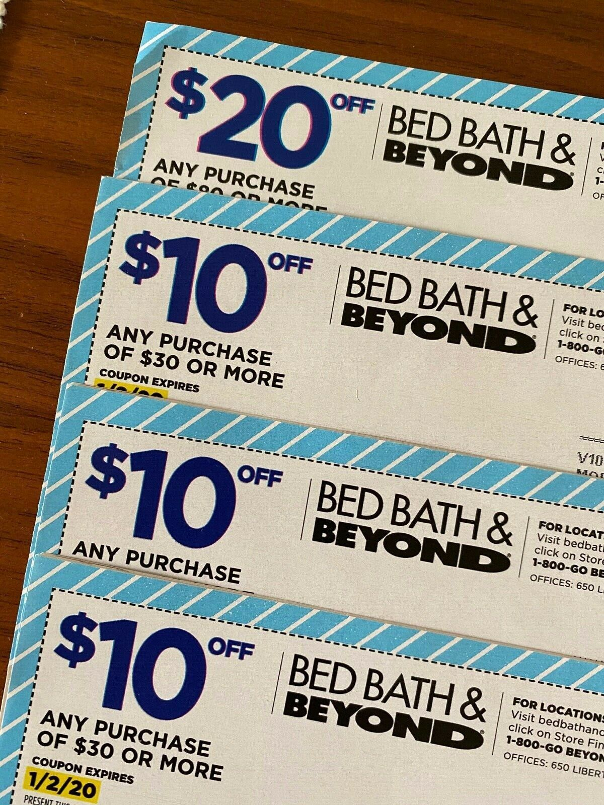 Not Expired Bed Bath Beyond In Store Online 1x 20 3x 10 Off