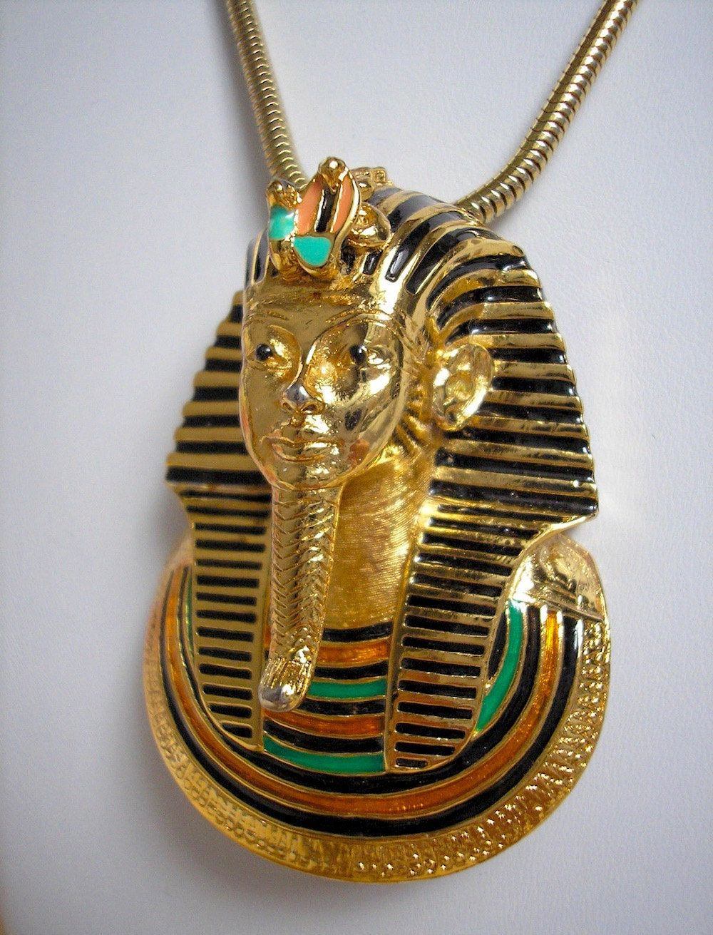 Egyptian King Tut Pendant Necklace