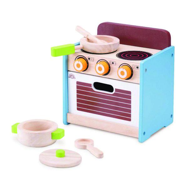 Hyggelig lille komfur med mini-ovn, gryde og pande. Nyt sjovt legetøj fra Wonderworld. Knapperne har kliklyd når de drejes og lågen kan åbnes... #Legekøkken #Legemad #Legemad #Wonderworld #NytLegetøj