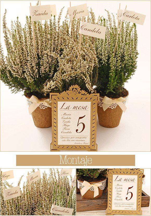 diy bodas: organiza las mesas de vuestra boda con macetas
