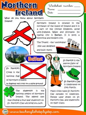 Northern Ireland Worksheet Enkku Pinterest Northern Ireland