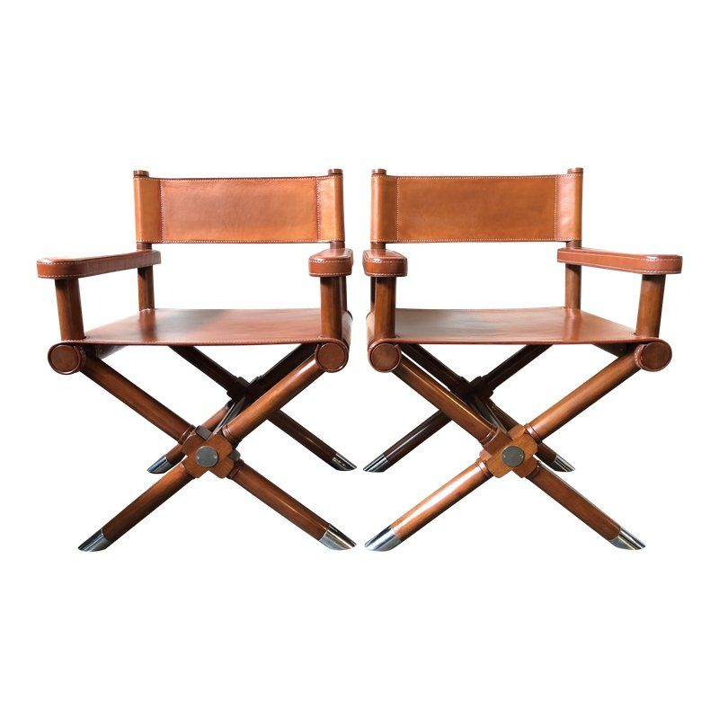 Pleasant Ralph Lauren Home Modern Hollywood Leather Directors Chairs Ibusinesslaw Wood Chair Design Ideas Ibusinesslaworg
