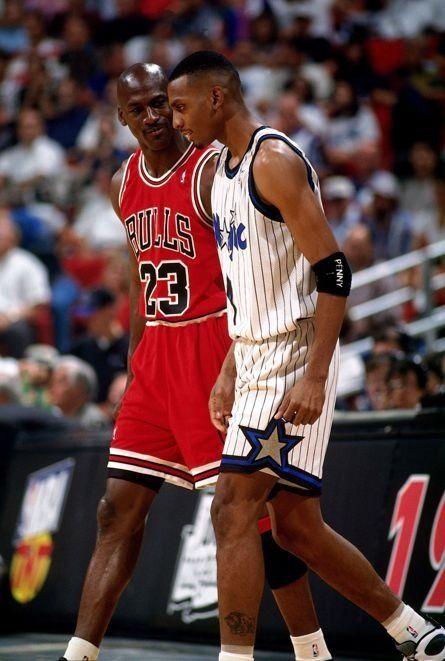 pretty nice bd44b b25f5 Michael Jordan Chicago Bulls Anfernee Hardaway Orlando Magic