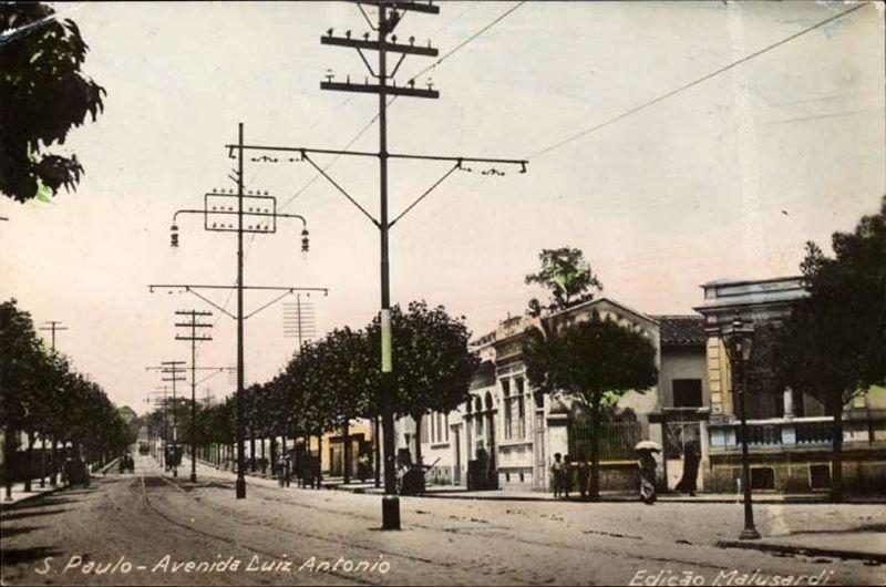 Avenida Brigadeiro Luís Antônio da década de 20