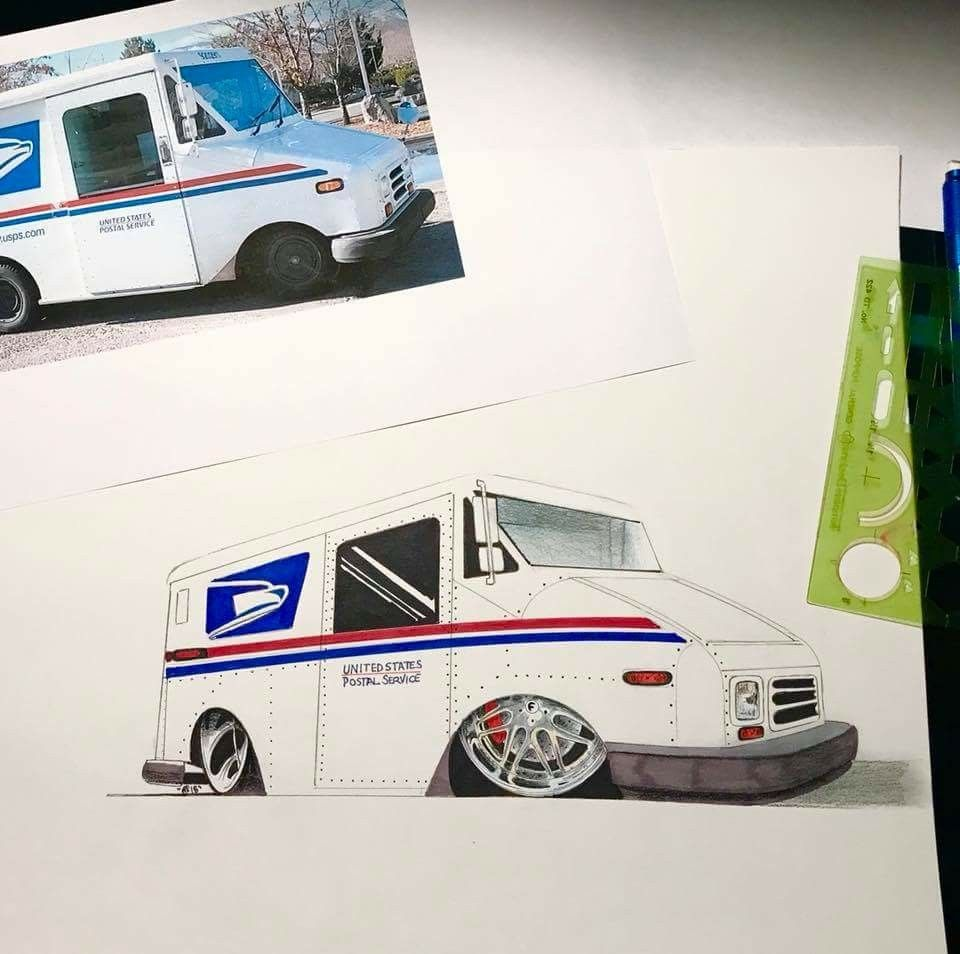 Llv Mail Truck By Rowenconceptz Mail Truck Trucks Vehicles