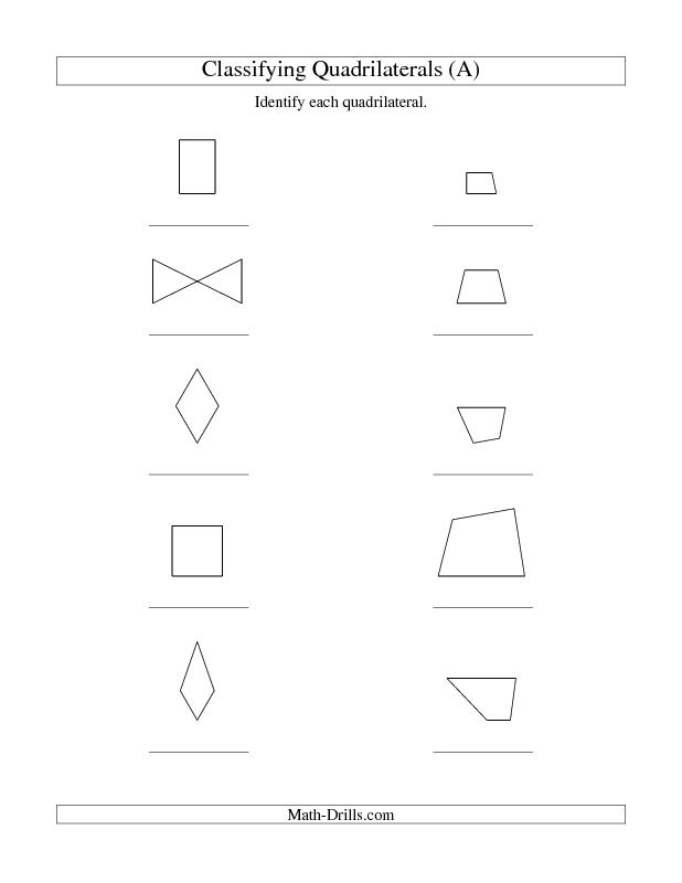 New 2013-04-18! Classifying Quadrilaterals (No Rotation