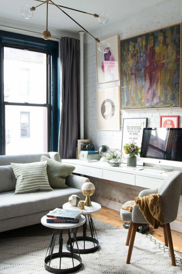 ▷ 1001 + Wohnzimmer Ideen Für Kleine Räume Zum Entlehnen | Runde  Einrichtungsideen ♡ Wohnklamotte | Pinterest | Kleine Zimmer Einrichten,  Graues Sofa Und ...