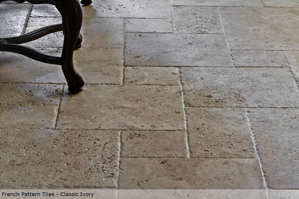 French Pattern Tiles Chiseled Tumbled And Straight Edge