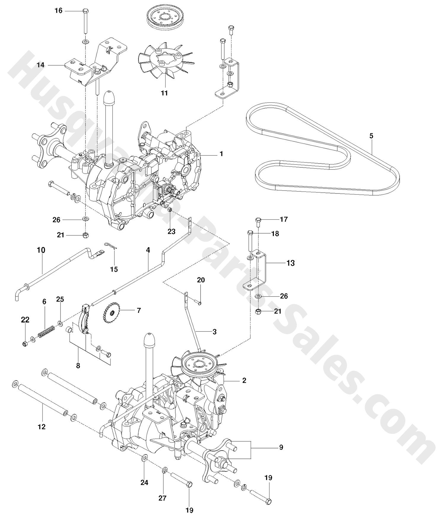 Rz Husqvarna Ztr Mowers Hydraulic Pump Motor Parts