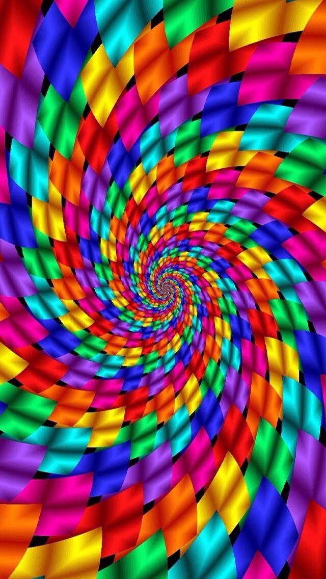 So Many Beautiful Colors Fractals Optical Illusions Rainbow Wallpaper