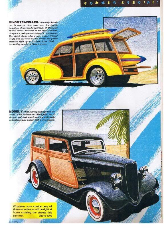Steve Kirk design.  Morris Minor 'Woody'.