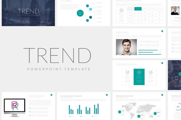 Trend Powerpoint Template By Rocketo Graphics On Creativemarket