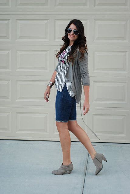 Transitioning to fall. Add a cardigan and ...
