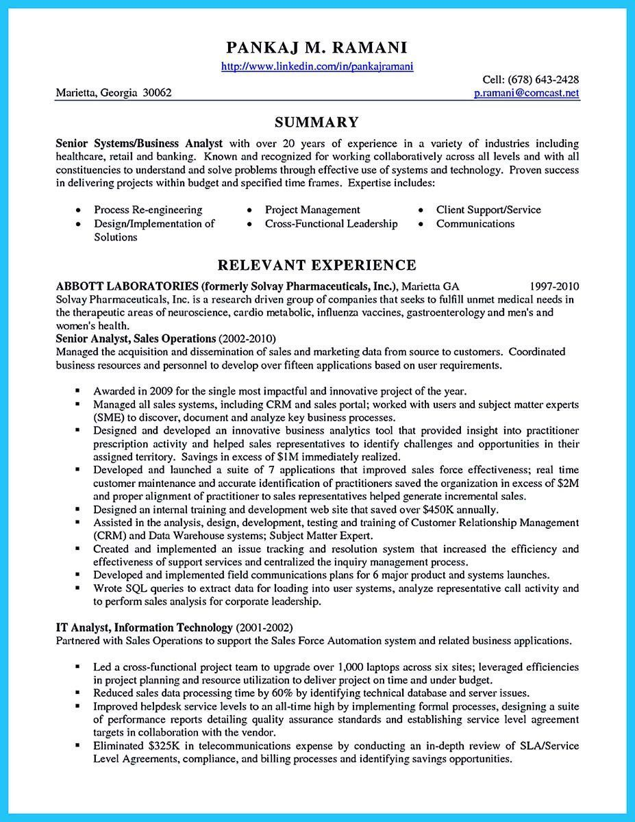 It Business Analyst Resume Perfect Best Secrets About Creating Effective Business Systems Of Business Analyst Resume Business Analyst Job Resume Samples