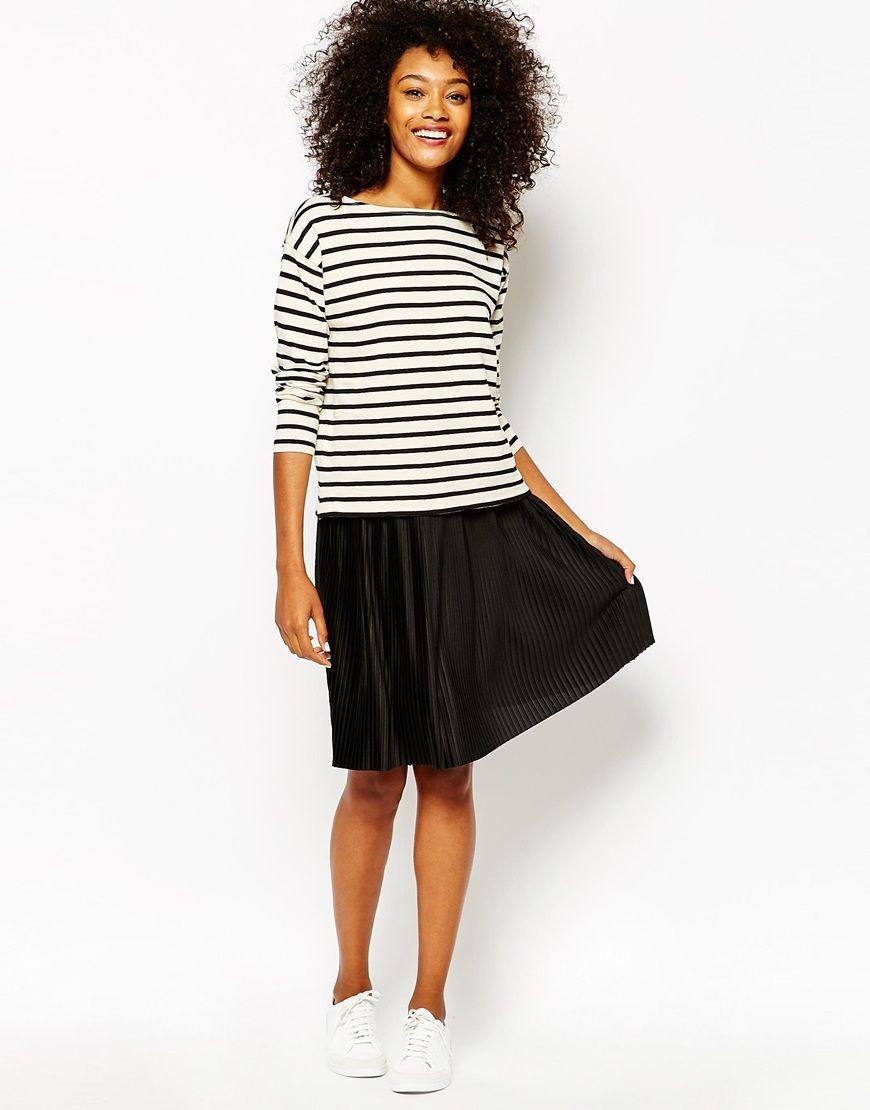 caa7e84549 Image 1 of Monki Pleated Jersey Midi Skirt   Style   Skirts, Midi ...
