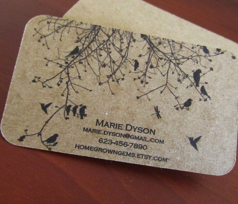 Business cards recycled kraft brown black bird branch tree modern todays round up we have collected best recycled paper business card designs for your inspiration so have a look on the recycled paper business card listed reheart Choice Image