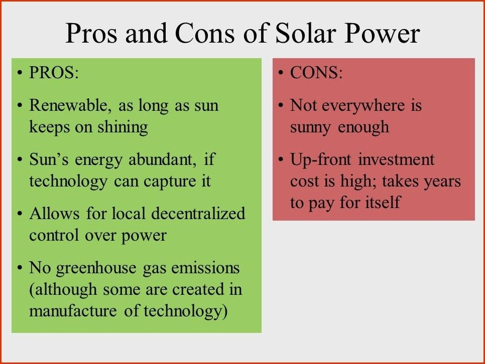 Pros And Cons Of Fossil Fuels >> The Pros And Cons Of Solar Energy
