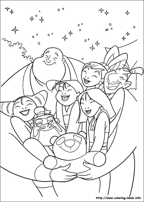 Mulan Coloring Picture Disney Coloring Pages Coloring Pages Cute Coloring Pages