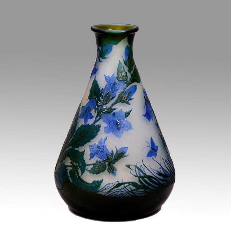 Galle - Butterfly vase.