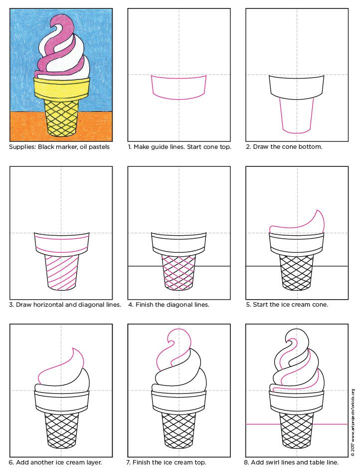 Draw an ice cream cone pinterest ice cream cones icecream and pdf draw an ice cream cone pdf tutorial available icecream howtodraw ccuart Image collections