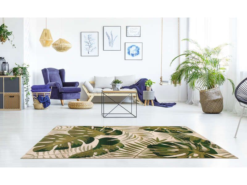 tapis 120 cm 170 cm vert vegetal