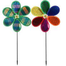 Bulk Metallic Flower Garden Pinwheels 10 In Dia At Dollartree