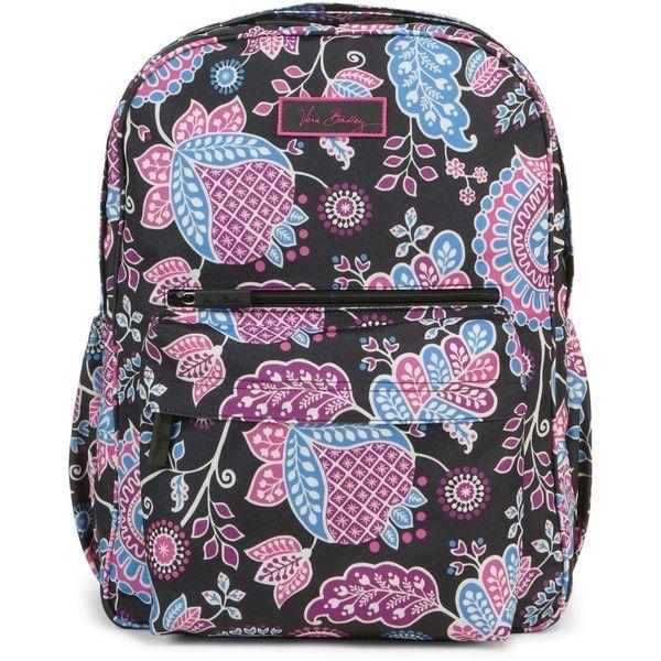 aabcbef930 Vera Bradley Lighten Up Grande Backpack in Alpine Floral ($98) ❤ liked on  Polyvore
