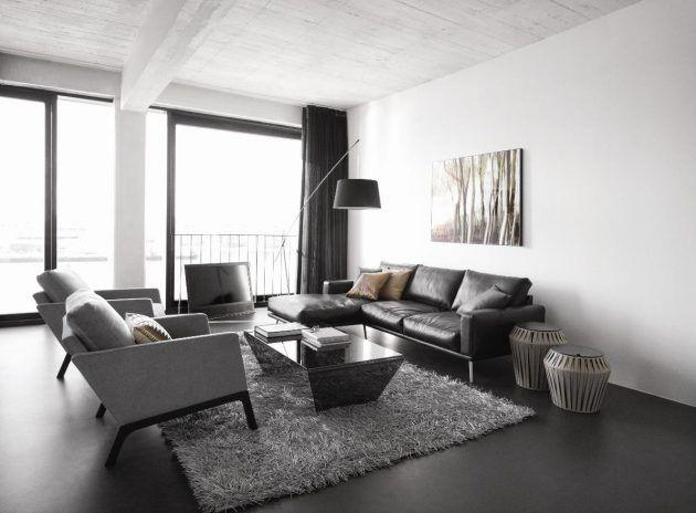 Designersofas aus Leder, Stoff und Co - moderne wohnzimmereinrichtungen