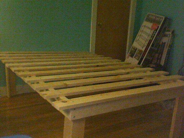 Cheap Easy Low Waste Platform Bed Plans Diy Bed Frame Wooden