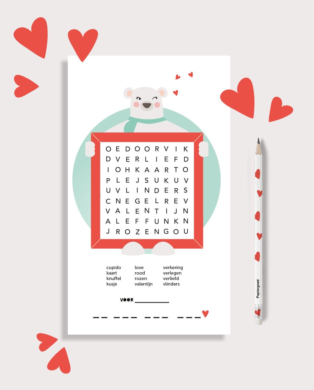 Valentijn Puzzel   Papiergoed