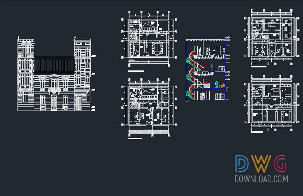 law firm architectural autocad project. an architectural project