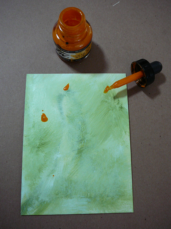 Acrylic Inks on Museum Board for a book cover by Alisa Golden