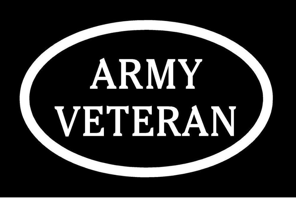 US Army Veteran Vinyl Decal Car Truck Window Sticker Military Logo