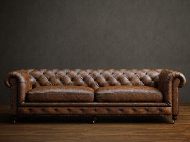 Chaise Sofa Two seater leather chesterfield sofa d model