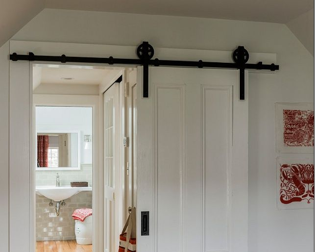 Sliding barn door for tight spaces barn doors hardware - Doors for tight spaces ...