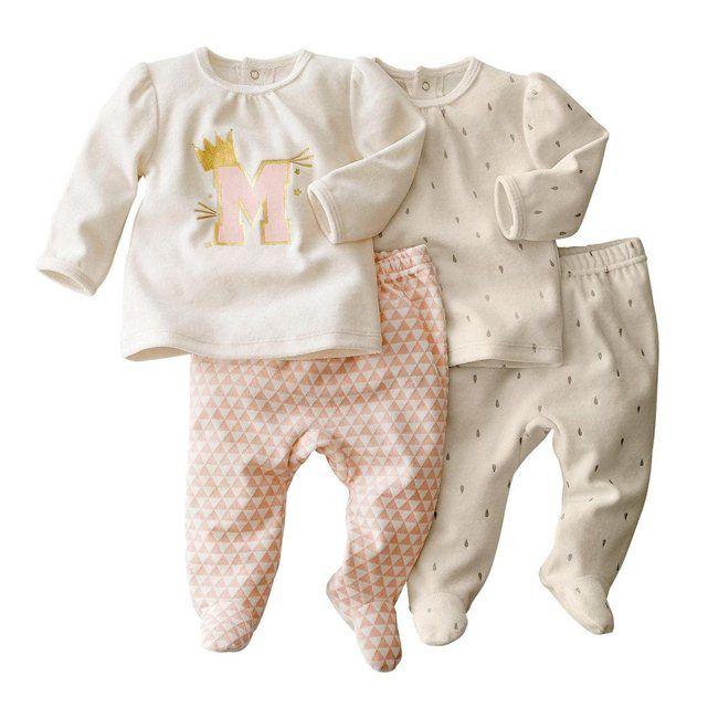 e7cb8e99556ea Pyjama 2 pièces velours (lot de 2) 0 mois-3 ans R baby