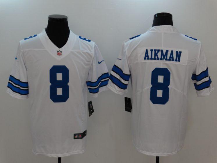Men Dallas Cowboys 8 Aikman White Nike Vapor Untouchable Limited ...
