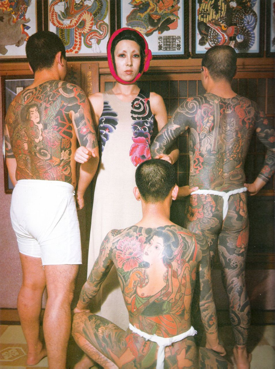 Bodyfluids issey miyake dress from the tattoo for Female yakuza tattoo
