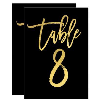 Elegant gold foil modern script table number 8 script table elegant gold foil modern script table number 8 stopboris Gallery