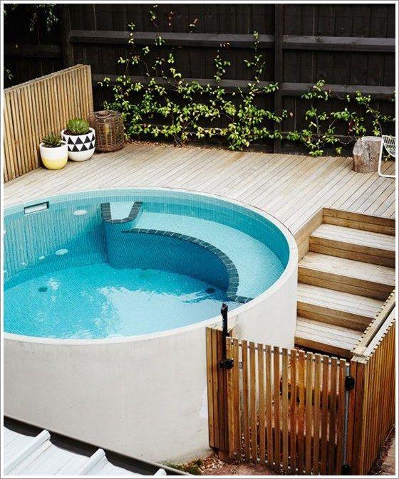50 modelos piscina pequena para inspirar sua reforma ou - Piscina prefabricada pequena ...