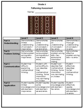 Grade 6 Patterning Assessment 2020 Ontario Math Math Place Value Rubrics Ontario Curriculum