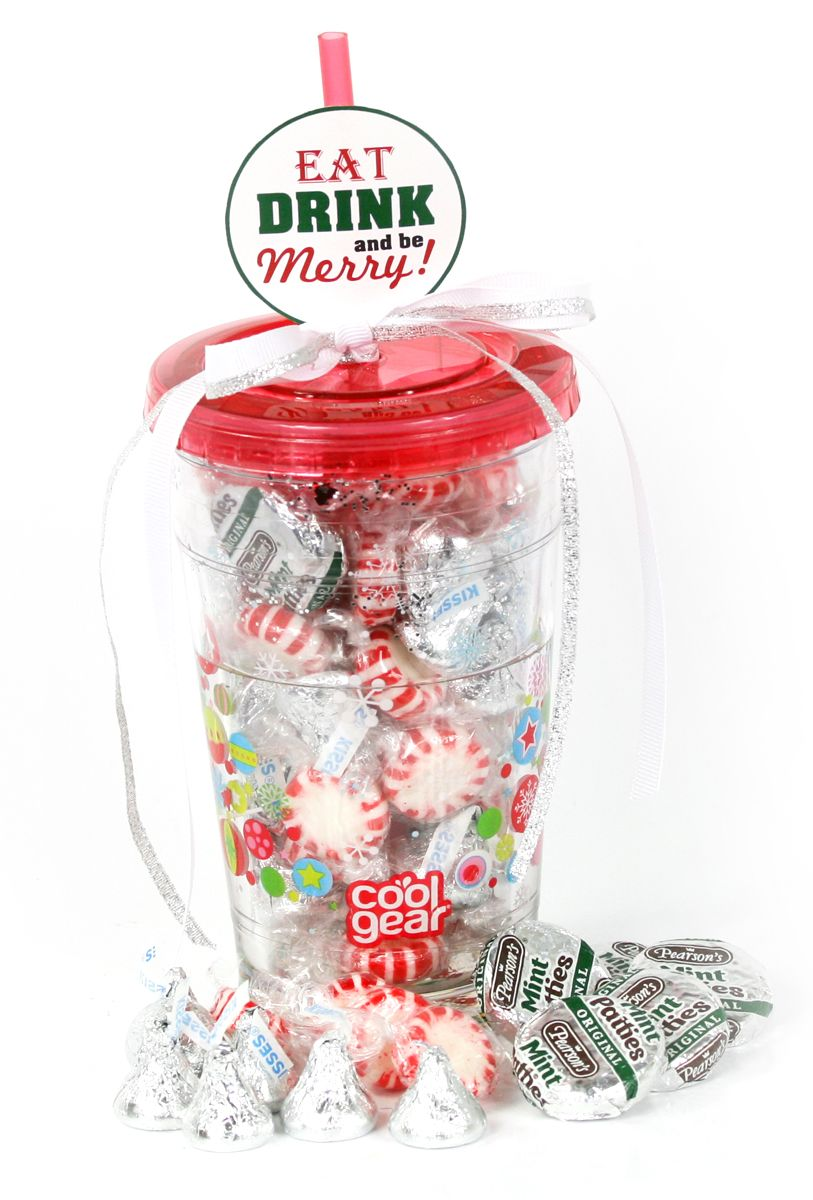 Eat, drink and be merry this holiday season! Stuff a holiday themed chiller with sweet, minty treats and you'll have the perfect teachers gift! #CoolGear
